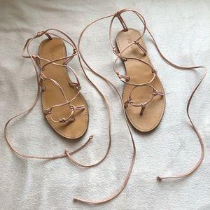 MADEWELL Gladiator Sandals Blush Pink
